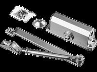 Доводчик дверной STAYER, для дверей массой до 80 кг, цвет серебро