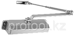 Доводчик дверной ЗУБР для дверей массой до 100 кг, цвет серебро