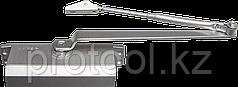 Доводчик дверной ЗУБР для дверей массой до 80 кг, цвет серебро