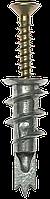 Дюбель металлический со сверлом, для гипсокартона, с оцинкованным саморезом, 33 мм, 3 шт, ЗУБР