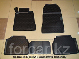Коврики в салон MERCEDES-BENZ E-class W211 (задний привод), 2002-2009, 4 шт. (полиуретан) , фото 2