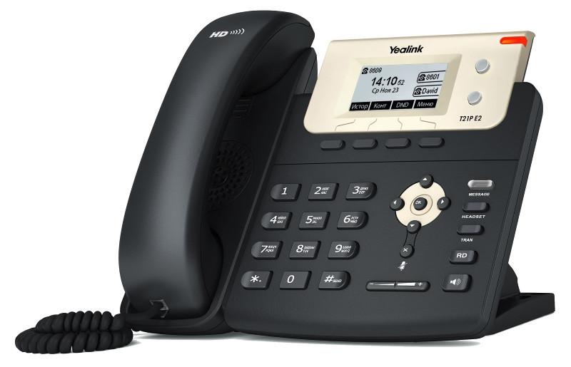 IP телефон Yealink SIP-T21P E2, без БП