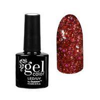 Гель-лак для ногтей 'Искрящийся бриллиант', трёхфазный LED/UV, 10мл, цвет 010 красный