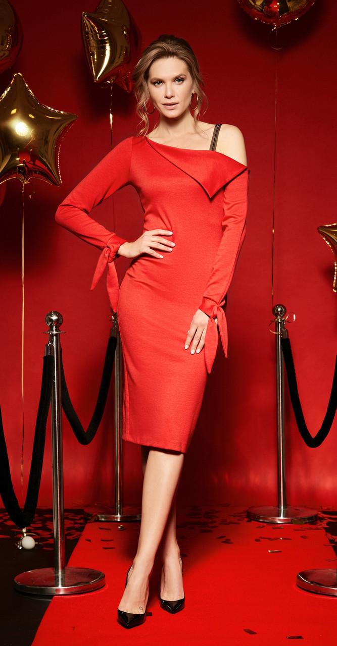Платье LIBERTY-6176, красный, 42