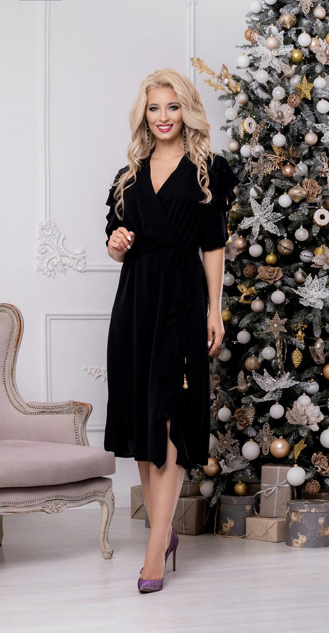 Платье DilanaVIP-1466, черный, 46