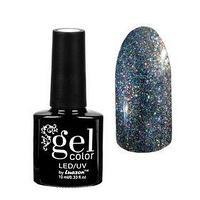 Гель-лак для ногтей 'Хамелеон', трёхфазный LED/UV, для чёрной основы, 10мл, цвет 015 серебряный