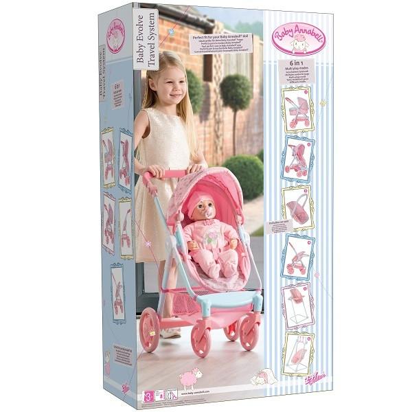 Коляска Baby Annabell многофункциональная (стульчик, качели, кресло) в коробке