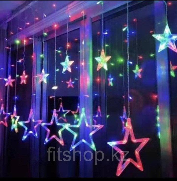 Гирлянда-дождь светодиодная Звезды - Хит продаж!