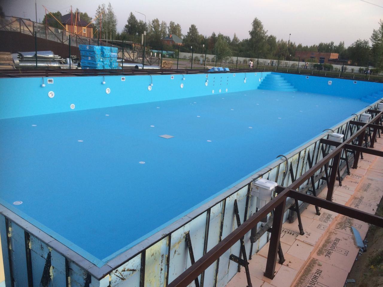 Скиммерный бассейн, 25*15*1.5м