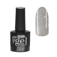 Гель-лак для ногтей, 216-204-42, однофазный, LED/UV, 10мл, цвет 216-204-42 серебристый с блёстками