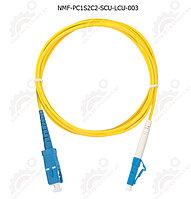 Шнур оптический переходной, SM 9/125 OS2, SC/UPC-LC/UPC, одинарный, LSZH, 2мм, желтый, 3м, шт