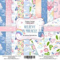 BELIEVE IN MIRACLE - набор двусторонней бумаги 30,5см х 30,5см, фото 1