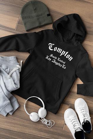 Худи черный - Compton, фото 2
