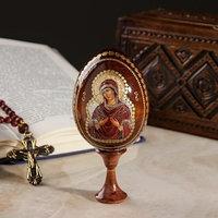 Сувенир Яйцо на подставке икона 'Божья Матерь Семистрельная'