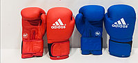 Боксерские перчатки ADIDAS  ( натуральная кожа ) со знаком AIBA цвет красный ,синий
