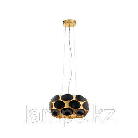 Светильник подвесной MONTORIO 1, сталь, HL  3 E27 SCHWARZ  GOLD, фото 2