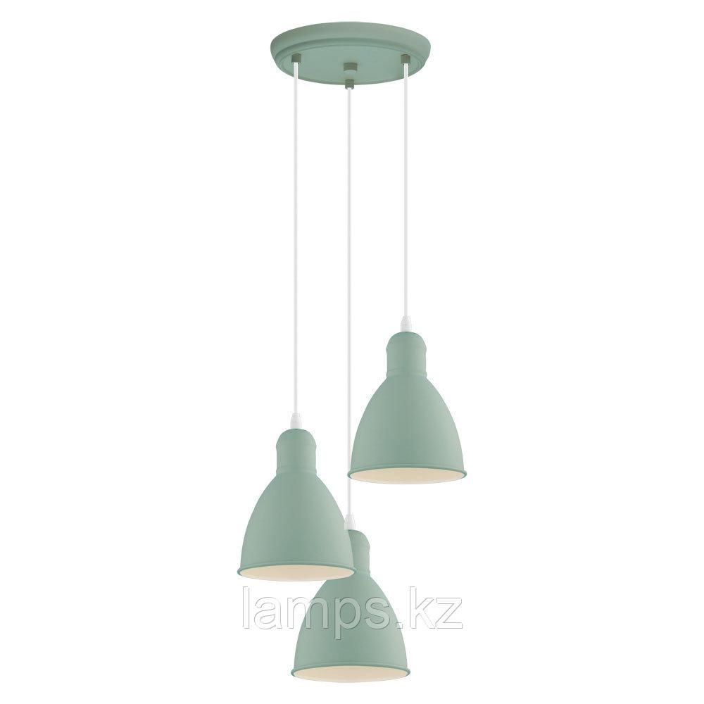 Светильник подвесной PRIDDY-P, сталь,HL  3 E27 HELLGRÜN