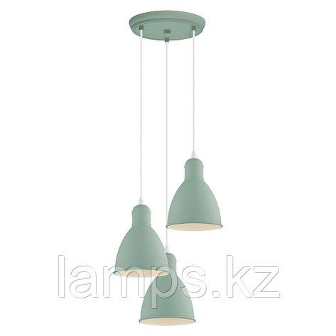 Светильник подвесной PRIDDY-P, сталь,HL  3 E27 HELLGRÜN  , фото 2
