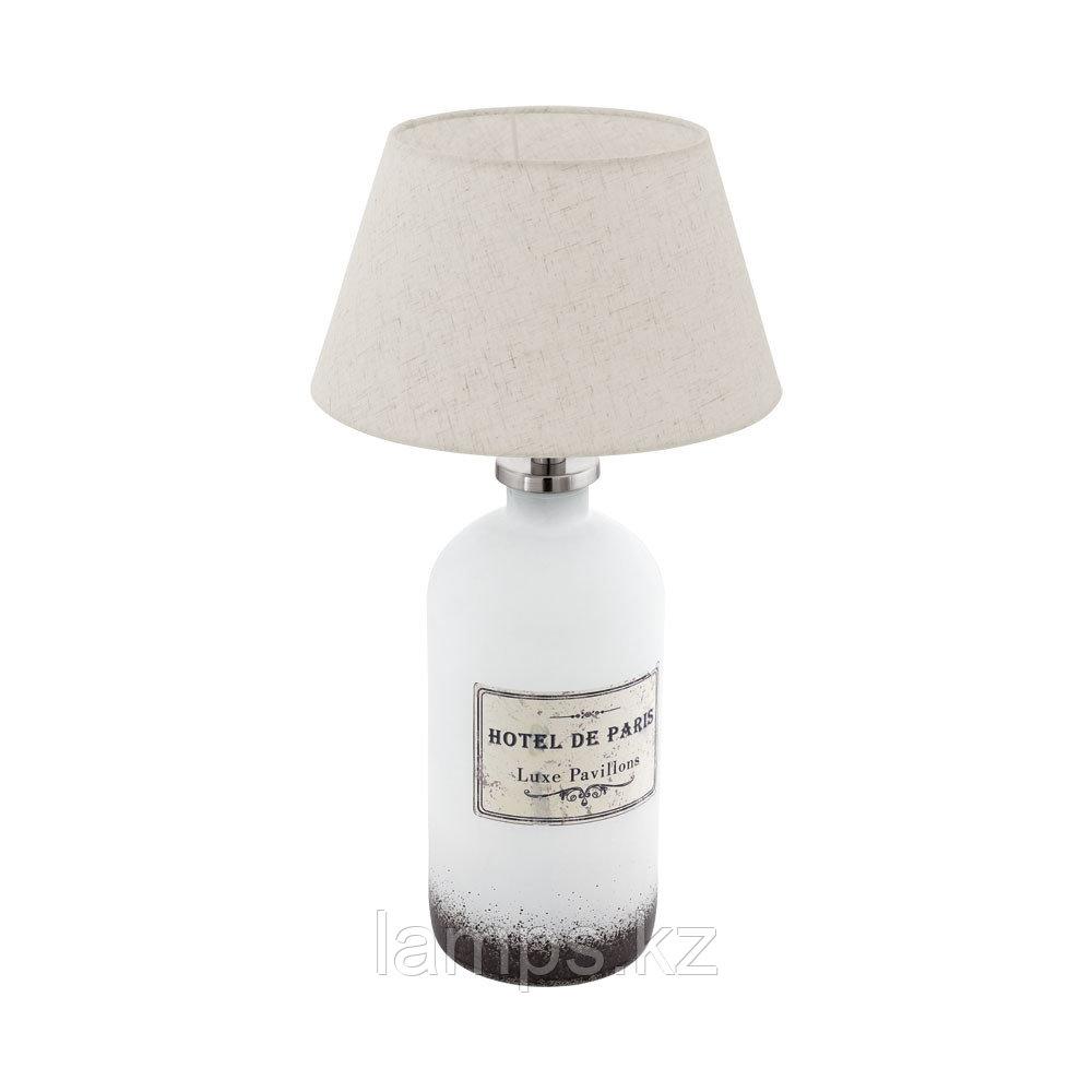 Светильник настольный ROSEDDA, стекло, материал   1 E27 BOTTLE WEISS/CREME