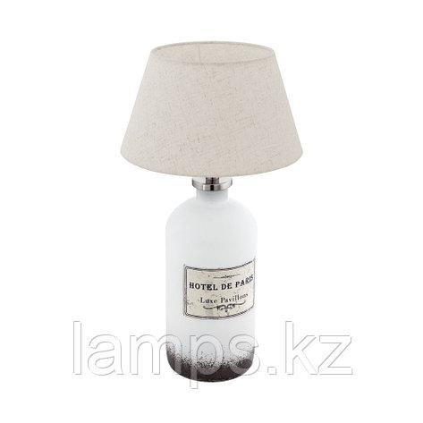 Светильник настольный ROSEDDA, стекло, материал   1 E27 BOTTLE WEISS/CREME, фото 2