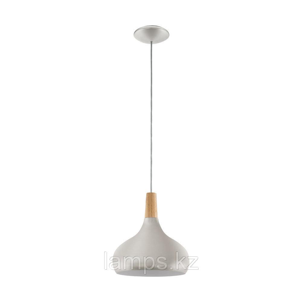 Светильник подвесной SABINAR, сталь, дерево, диаметр 280, HL  1