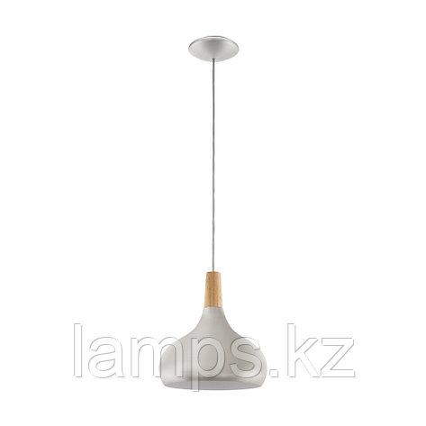 Светильник подвесной SABINAR, сталь, дерево, диаметр 280, HL  1, фото 2