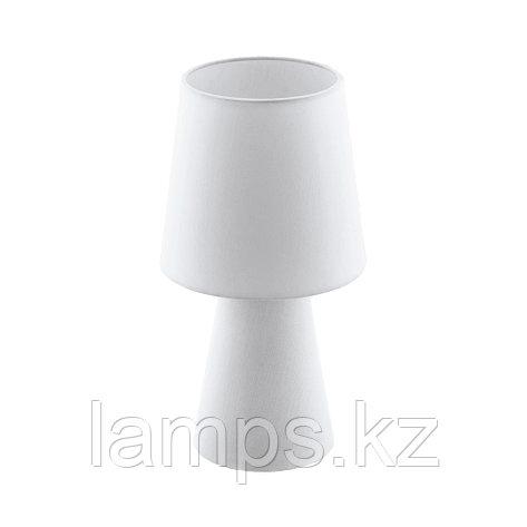 Светильник настольный CARPARA, TL/2 E14 H-340 WEISS, текстиль, фото 2