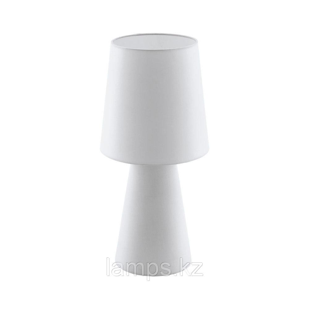 Светильник настольный CARPARA, TL/2 E27 H-470 WEISS, текстиль