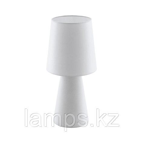 Светильник настольный CARPARA, TL/2 E27 H-470 WEISS, текстиль, фото 2