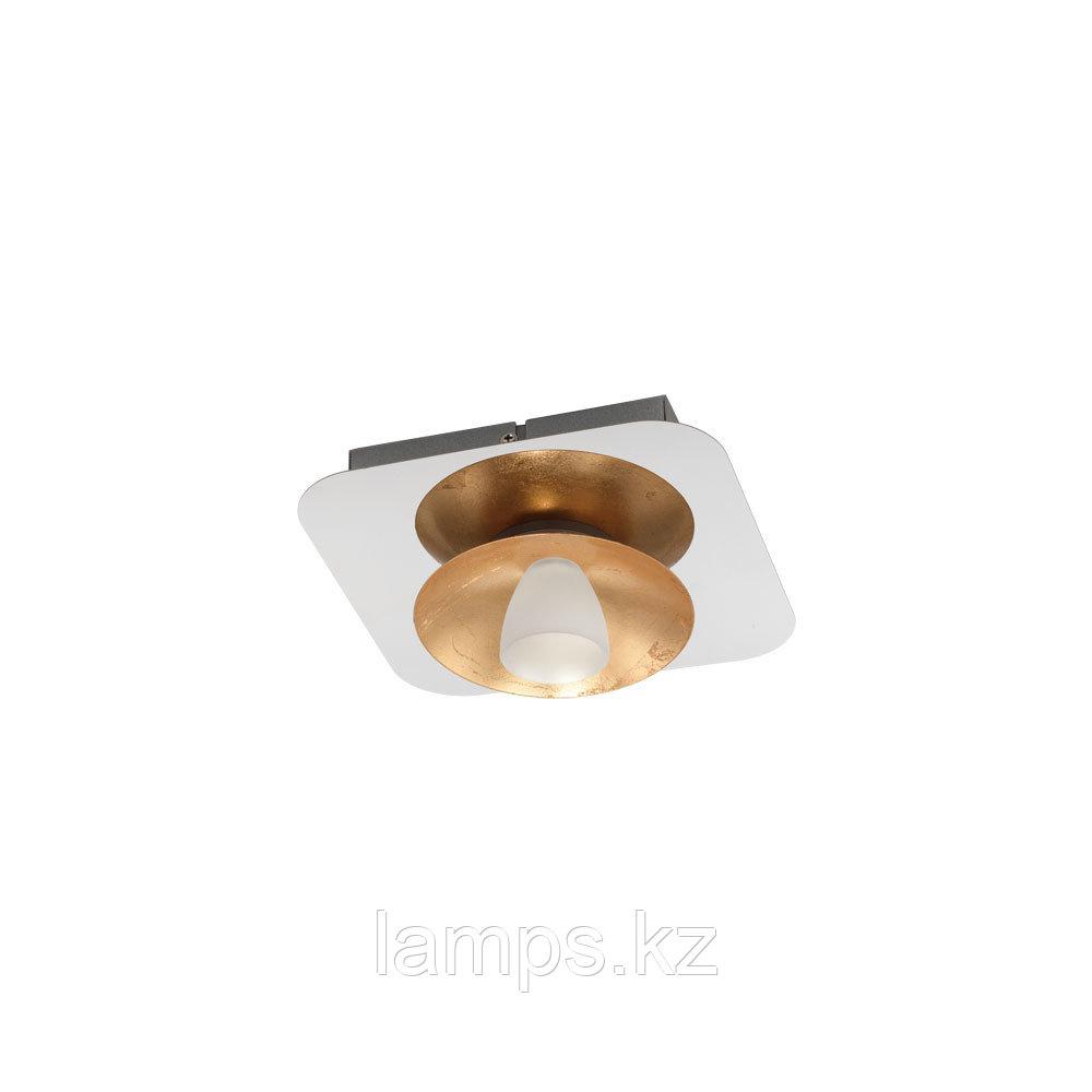 Светильник потолочный TORANO, LED-DL/1 CHROM/GOLD/SAT.сталь, стекло