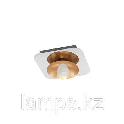 Светильник потолочный TORANO, LED-DL/1 CHROM/GOLD/SAT.сталь, стекло, фото 2