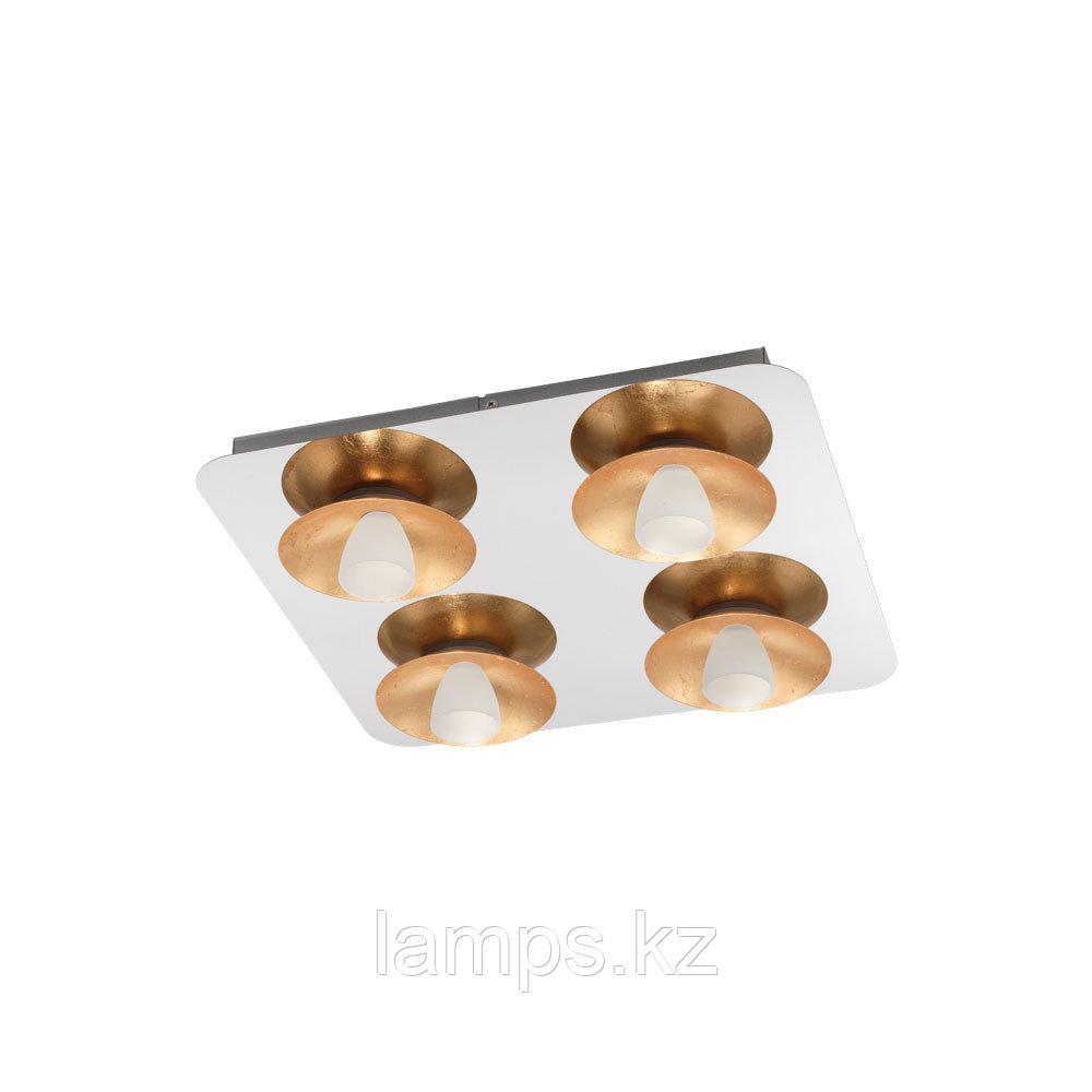 Светильник потолочный TORANO, LED-DL/4 CHROM/GOLD/SAT.сталь, стекло