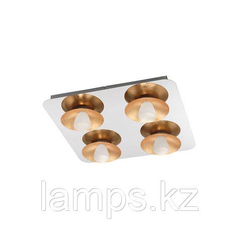 Светильник потолочный TORANO, LED-DL/4 CHROM/GOLD/SAT.сталь, стекло, фото 2