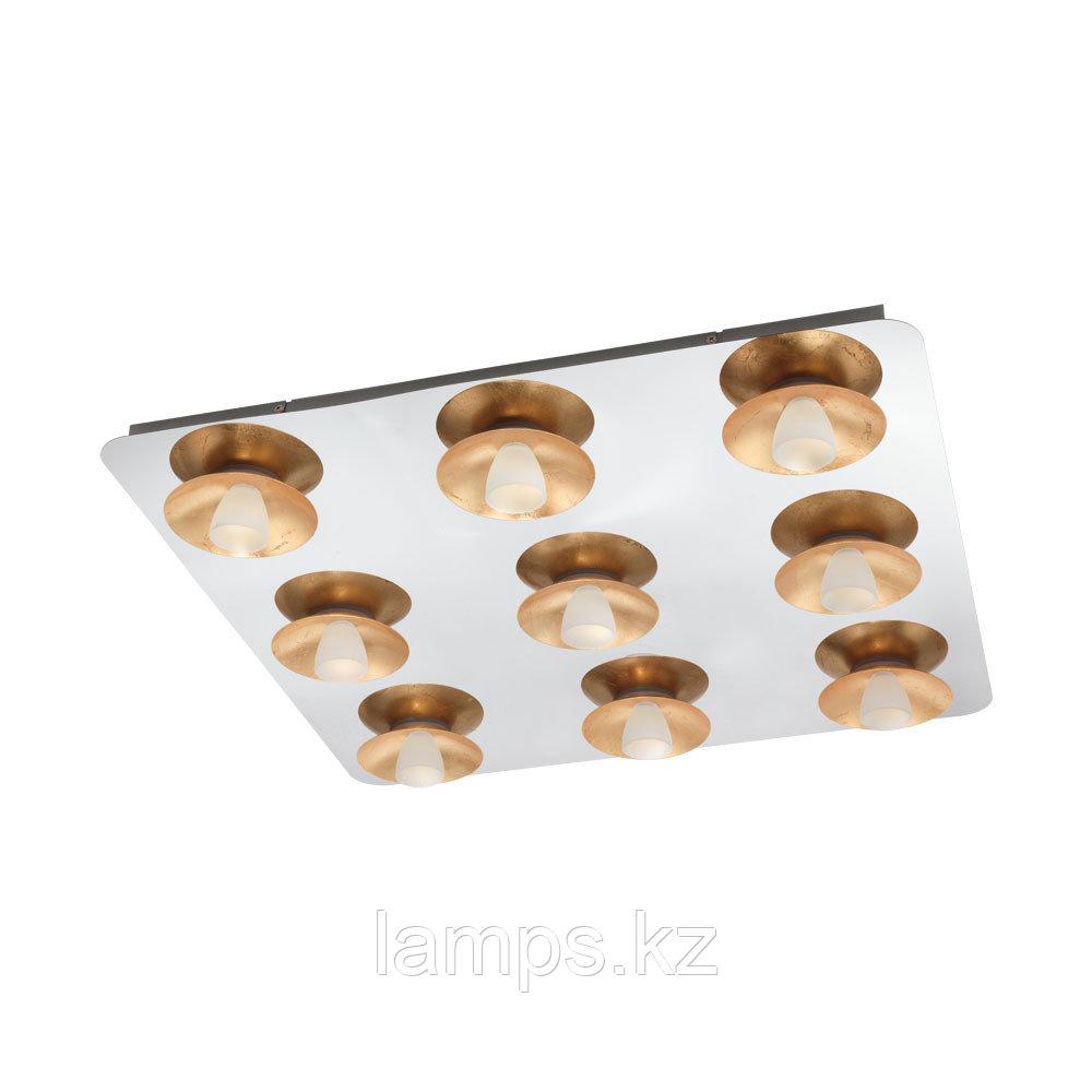 Светильник потолочный TORANO, LED-DL/9 CHROM/GOLD/SAT.сталь, стекло
