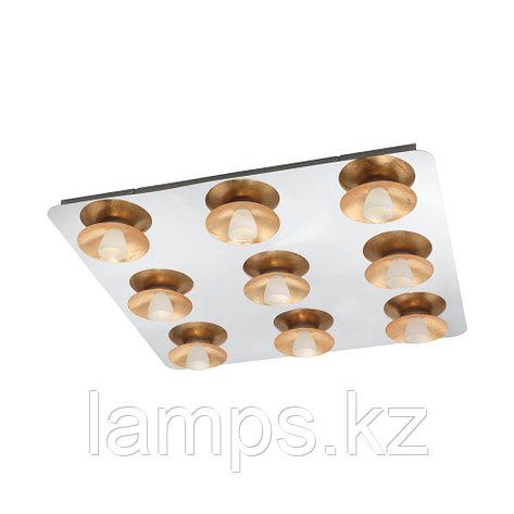 Светильник потолочный TORANO, LED-DL/9 CHROM/GOLD/SAT.сталь, стекло, фото 2