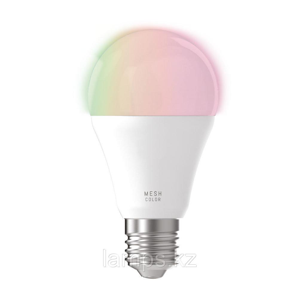 Лампа светодиодная 9W RGBW/CCT, стекло,LM-E27 A60 9W