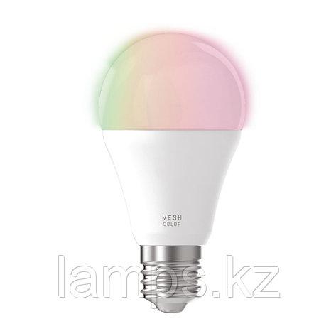 Лампа светодиодная 9W RGBW/CCT, стекло,LM-E27 A60 9W, фото 2
