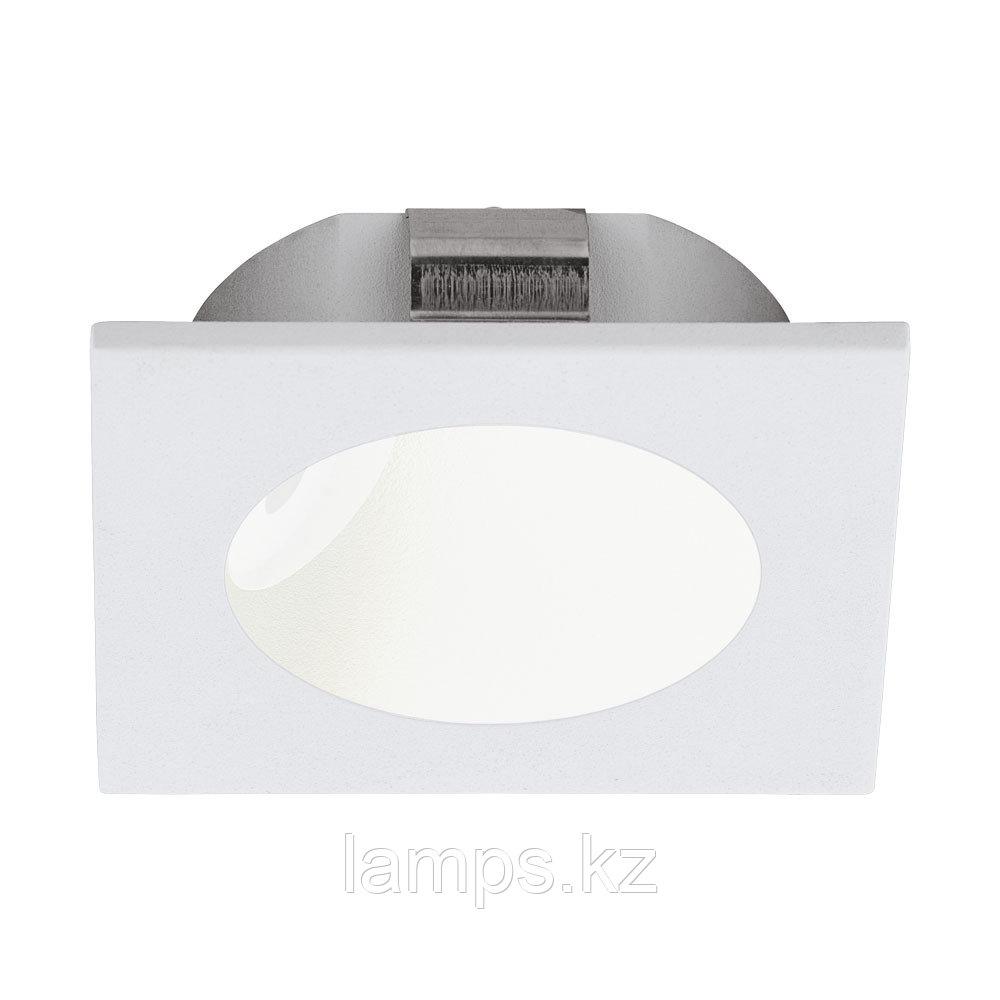 Светильник встраиваемый ZARATE, пластик, LED-EINBAUSPOT WEISS