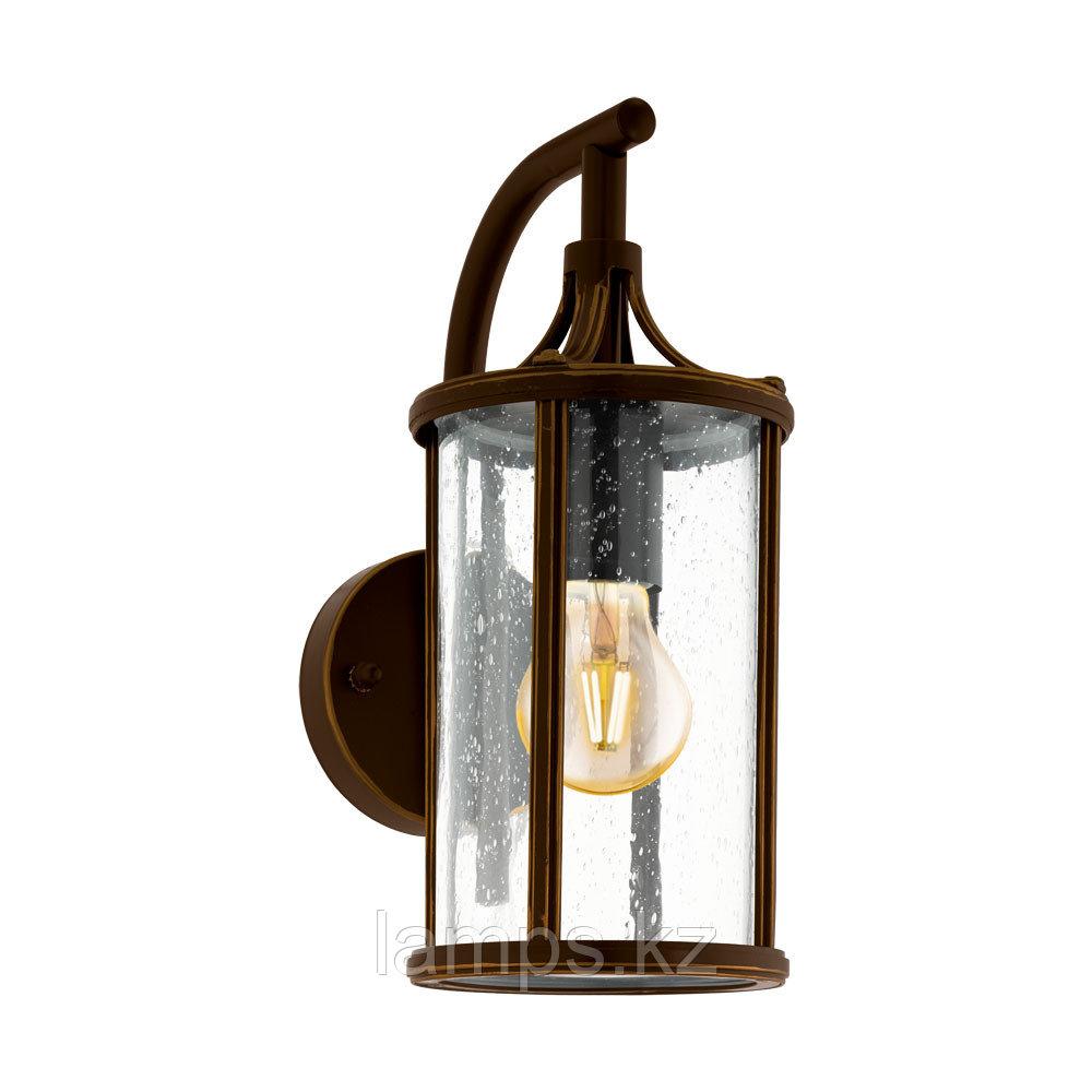 Светильник настенный APIMARE, сталь, стекло AL-WL 1 E27 D-BRAUN KLAR
