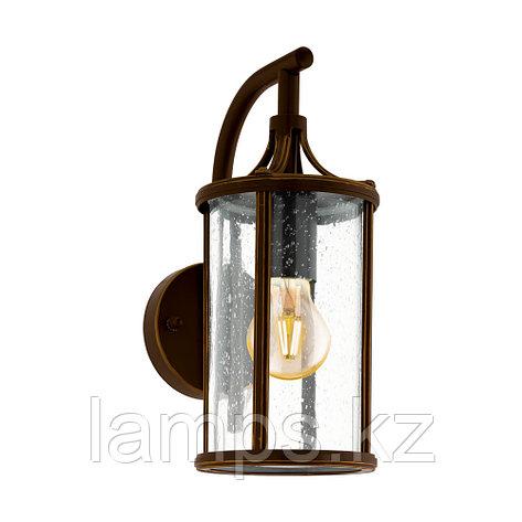 Светильник настенный APIMARE, сталь, стекло AL-WL 1 E27 D-BRAUN KLAR, фото 2