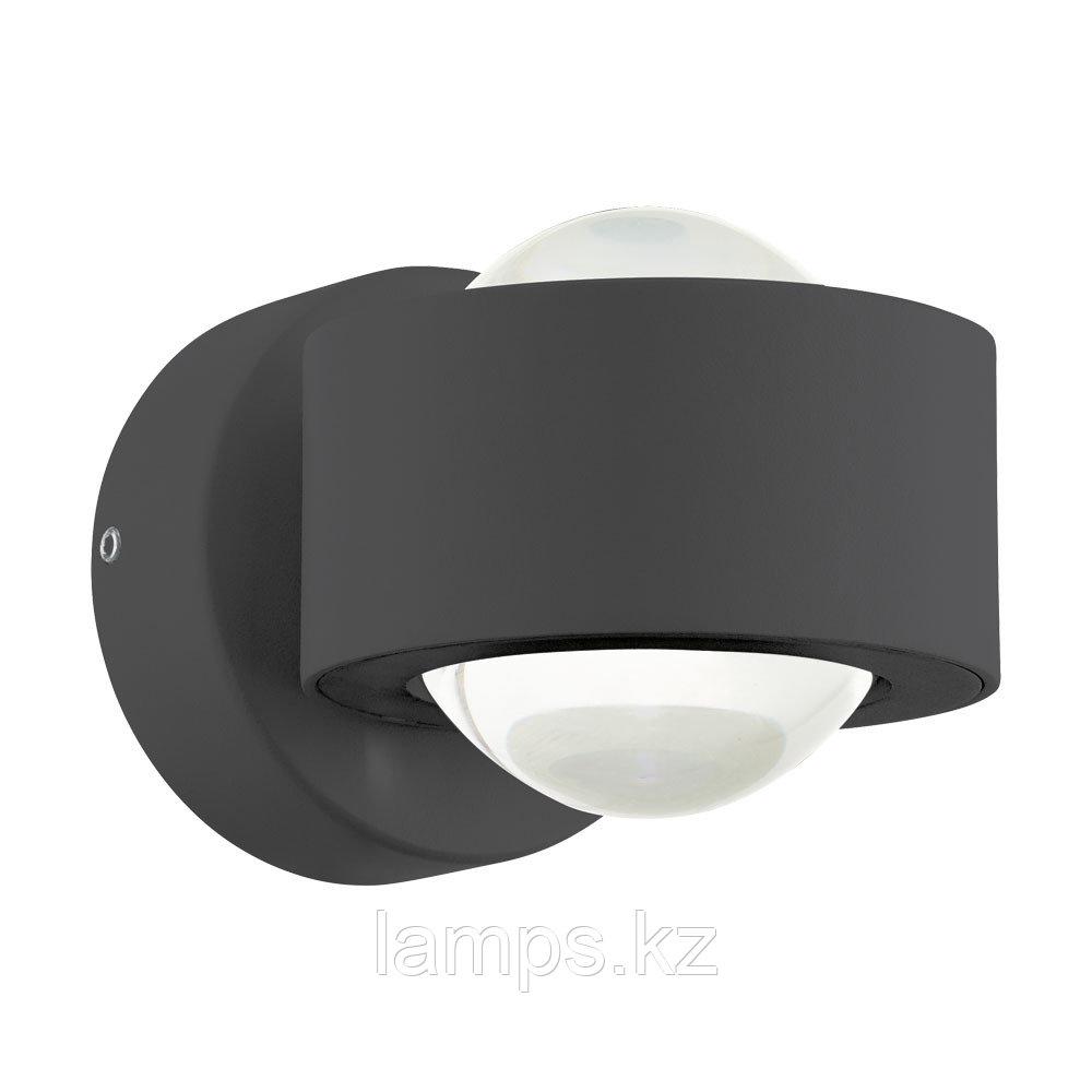 Светильник настенный ONO 2  LED-WL 2 ANTHRAZIT, алюминий, пластик
