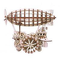 Robotime Деревянный 3D конструктор Дирижабль, с механическим приводом