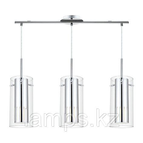 Светильник подвесной  LED  steel  chrome  glass  GU10  3x5W  PINTO 2, фото 2