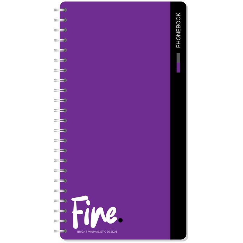 """Телефонная книга ArtSpace """"Моноколор. Fine color"""" А5, 80 листов на гребне, линия"""