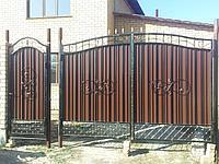 Ворота кованые зашитые, фото 1