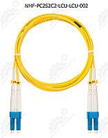 Шнур оптический соединительный, SM 9/125 OS2, LC/UPC-LC/UPC, двойной, LSZH, 2мм, желтый, 2м, шт