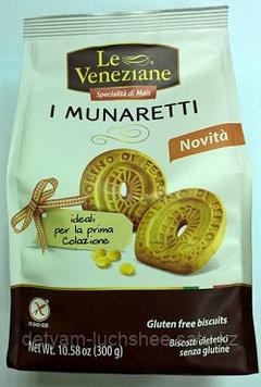 Безглютеновое  Печенье сливочное Мунаретти 300 гр Le Veneziane