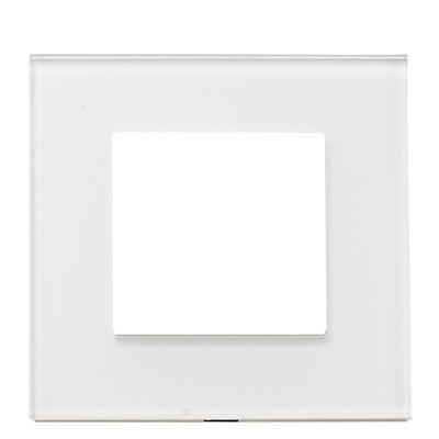 Рамка на один модуль из стекла. Белая
