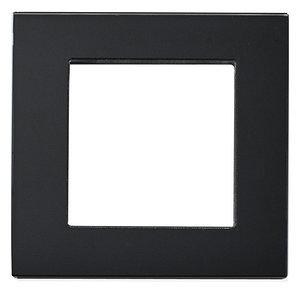 Рамка на один модуль из стекла. Черная