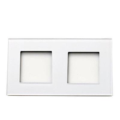 Рамка на два модуля из стекла. Белая